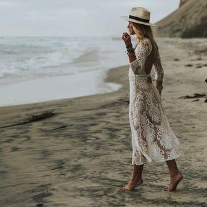 For Love + Lemons San Marcos Dress in White S